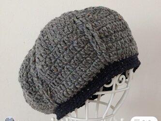 Sold out‼️グレーツイードのまぁるいニット帽の画像