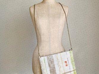 モコモコ 手織りショルダーバッグ カラフルの画像