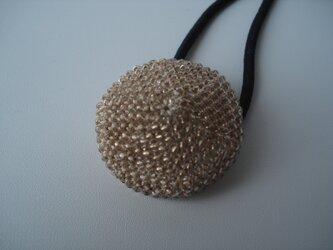 Hair tie (M) --Antique Gold-- [beige base]の画像