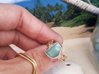 【13号】seaglass side leaf ringの画像