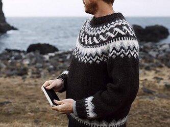 【限定】北欧風刺繍たっぷり ウール・ セーター ニットLH733の画像
