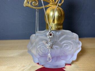 蝶薔薇ネックレストップの画像