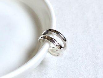 earcuff double silverの画像