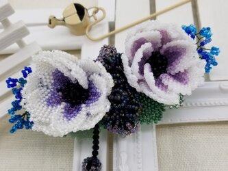 バレッタ Bouquet  (パープルアネモネ)の画像