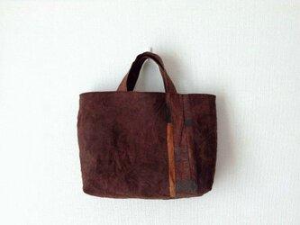 横長の柿渋かばん - 柿渋染めのトートバッグの画像