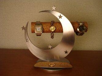 Xmasプレゼントにどうぞ 三日月インテリア気まぐれスター腕時計スタンドの画像