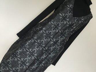 1031   着物リメイク コクーンジャンバースカート    手織り紬の画像