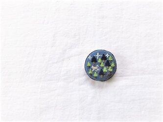 刺繍ブローチ「森・ブルー」の画像