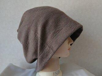 魅せる帽子☆ゆるゆるかなり大きめ!!4wayワッチキャップ~モカ茶の画像