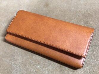 長財布(キャメル)の画像