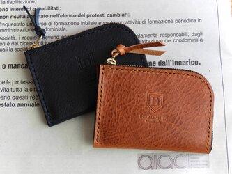 イタリアンレザーのカードケース/ブラウンの画像