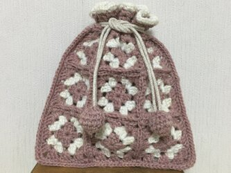 手編みポーチの画像