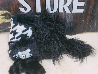 受注生産モジャ猫スヌードの画像