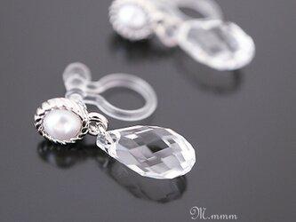 Clarity ~透明感~ピアスのようなイヤリング(ノンホールピアス)の画像