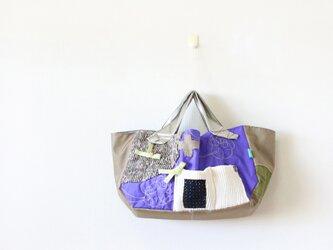 ナイロントートバッグ purple&ribbonの画像