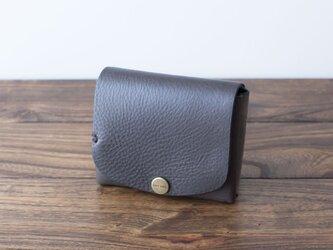 イタリア製牛革の二つ折り財布 / グレー※受注製作の画像