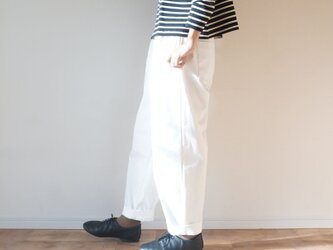 Premium denim tack pants OFF/Wの画像
