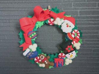 フェルトのクリスマスリースの画像