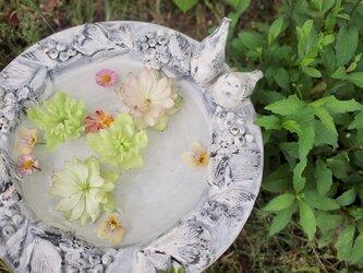 【受注生産】Garden goods*小鳥を招くバードバスの画像