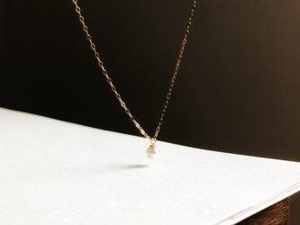 【再入荷】K10 小さなあこや真珠  ペンダントの画像