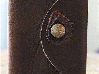 羅針盤コンチョのシステム手帳 カーキの画像