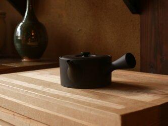 【愛知県常滑産】とこなめ焼の急須・低・380cc・墨色(湯呑2~3杯分)の画像
