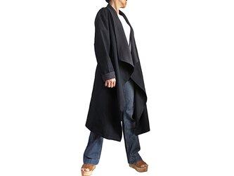 ジョムトン手織り綿オープンコート紐付き(JFS-152-01)の画像