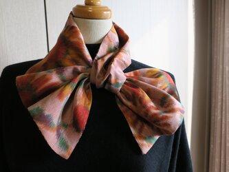 銘仙 秋色変わりスカーフの画像