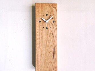掛け時計 縦型 アメリカンチェリーの画像