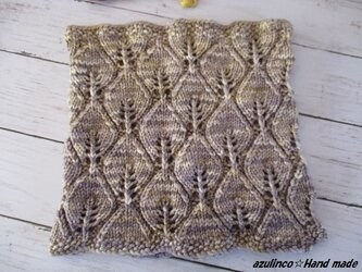 手編みネックウォーマー   Malabrigo 122Nieblaの画像