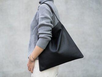 [New]Holiday bag レザーブラックの画像