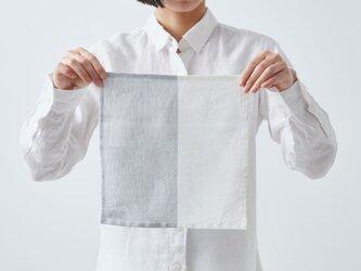 【再入荷】シャンブレーリネン ミニクロス(グレー×ホワイト)の画像