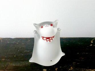 ガラスの招き猫(絵付け)の画像