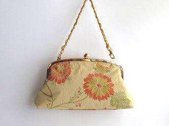 がま口バッグ;イタリア製・花柄の画像