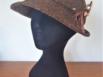 ウールツイードの6piece帽子の画像