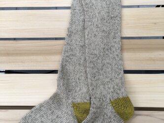 手編みの靴下 longの画像
