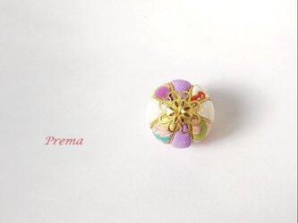 ちいさい真理(まり)アクセサリー加工無料  b花白紫の画像