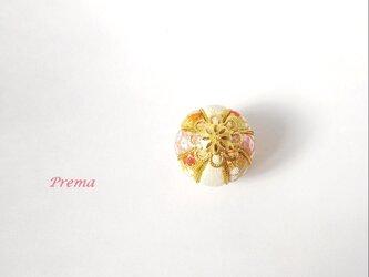 ちいさい真理(まり)アクセサリー加工無料  e白金桃橙の画像