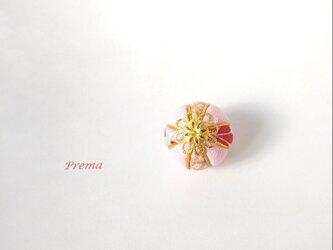 ちいさい真理(まり)アクセサリー加工無料  f金桃紅花の画像