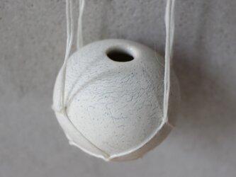 地球 the earth 花器  ハンガーベイス ロウ引き麻プランツハンガー 白の画像