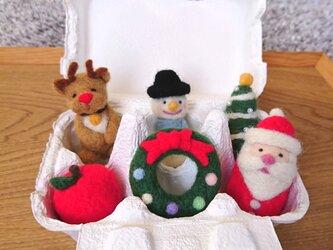 メリークリスマス inたまごケースの画像