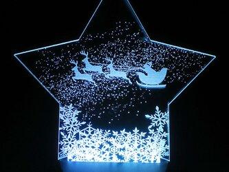 クリスマスルームライト LED 猫 サンタクロース トナカイ フロアライトの画像