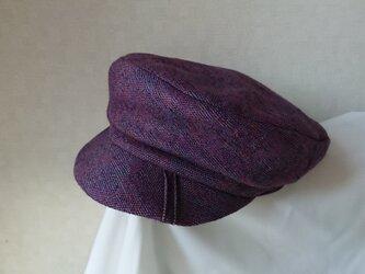 魅せる帽子☆ウールニットのキャスケット~ボルドーの画像