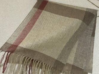 手織りストール A43の画像