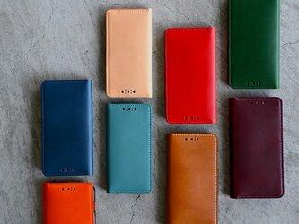 【カラーオーダー】ブッテーロのiPhone手帳型カバー iPhone12mini SE 8/8s 7/7s 6/6sの画像