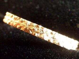 六花 雪のゴールドリング K18の画像