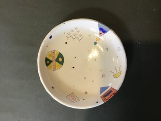 イロアソビ  丸皿の画像