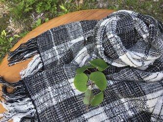 冬の新作 手紡ぎオ-ガニック和綿糸使用を使用したストールの画像