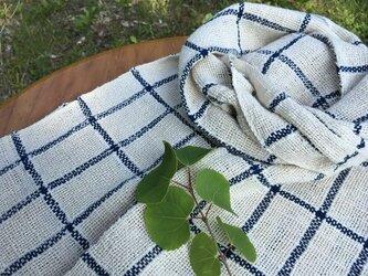 冬の新作 手紡ぎオーガニック和綿糸を使用したスト-ルの画像