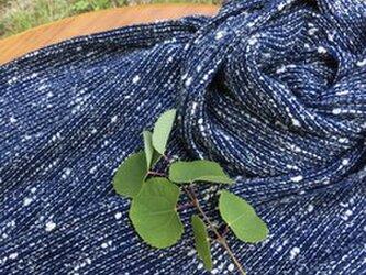 冬の新作 手紡ぎオ-ガ和綿糸を使用したスト-ルの画像